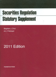 Securities Regulation Statutory Supplement
