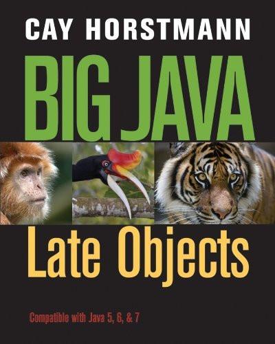 Big Java Late Objects