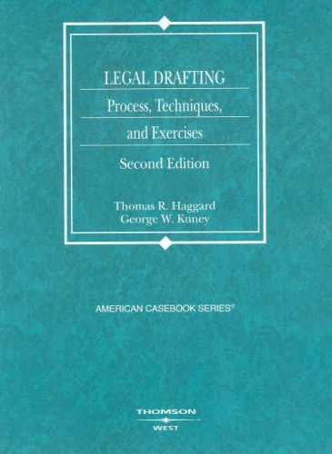 Legal Drafting Process Techniques And Exercises