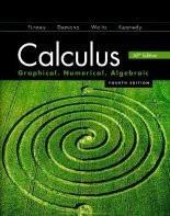 Calculus Graphical Numerical Algebraic