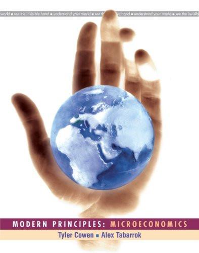 Modern Principles Microeconomics