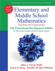 Elementary And Middle School Mathematics Professional Development Edition for Mathematics Coaches
