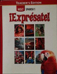 Expresate! Teacher Edition Level 1