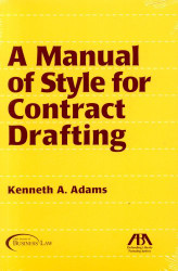 Manual Of Style For Contract Drafting