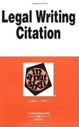 Legal Citation in a Nutshell