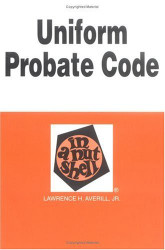 Uniform Probate Code And Uniform Trust Code In A Nutshell 6Th