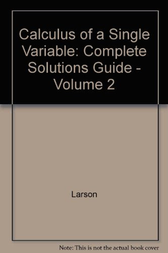Complete Solutions Guide Volume 2