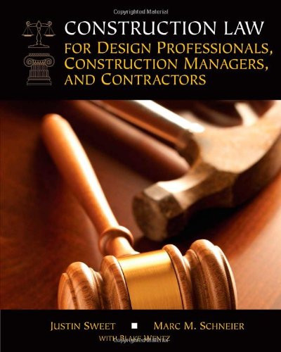 Construction Law For Design Professionals Construction Managers And Contractors
