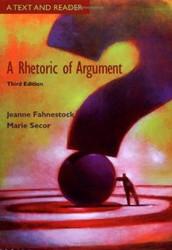 Rhetoric Of Argument by Jeanne Fahnestock