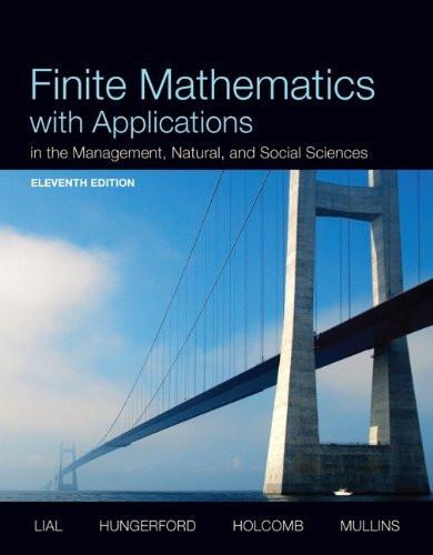 Finite Mathematics With Applications