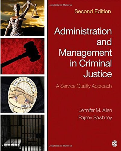 Administration And Management In Criminal Justice