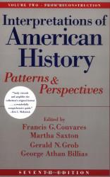 Interpretations Of American History Volume 2