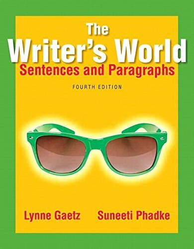 Writer's World: Sentences And Paragraphs