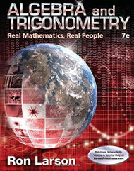 Algebra And Trigonometry Real Mathematics Real People