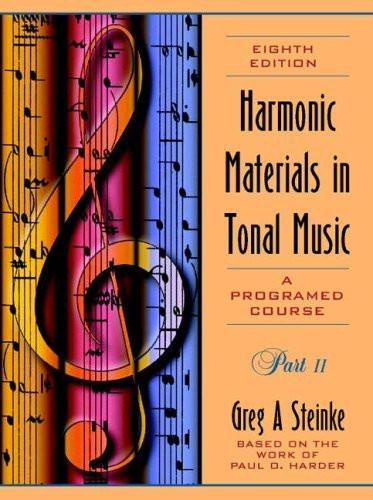 Harmonic Materials In Tonal Music Part 2