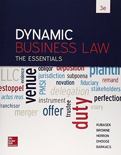 Dynamic Business Law The Essentials