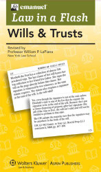 Law in A Flash Cards: Wills & Trusts 2013