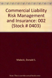 Commercial Liability Risk Management And Insurance