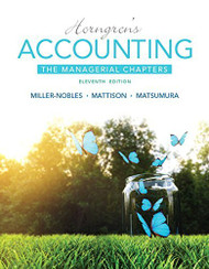 Horngren's Accounting Managerial Chapters