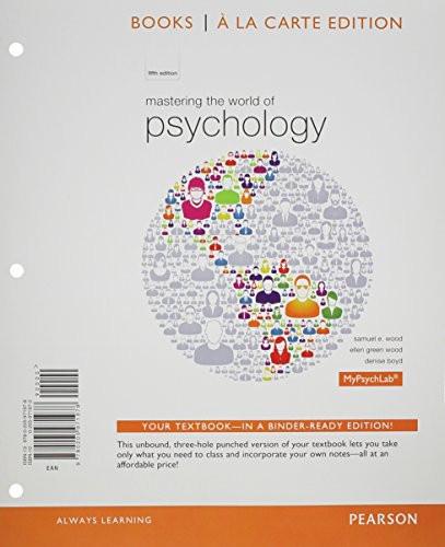 Mastering The World Of Psychology Books Mypsychlab