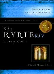 Ryrie Kjv Study Bible Bonded Leather Black Red Letter