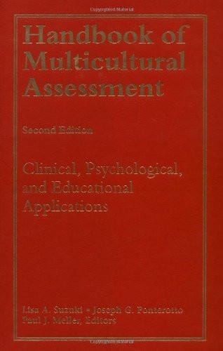 Handbook Of Multicultural Assessment