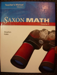 Saxon Math, Course 2: Teacher's Manual, Vol. 2