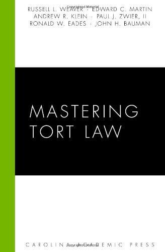 Mastering Tort Law