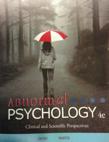 Abnormal Psychology Clinical And Scientific Perspectives