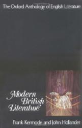 Oxford Anthology Of English Literature