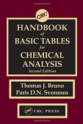 Crc Handbook Of Basic Tables For Chemical Analysis