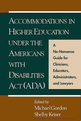 Accommodations In Higher Education Under The Americans With Disabilities Act