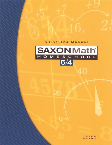 Saxon Math Homeschool 5 / 4