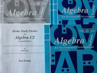 Algebra 1/2 An Incremental Development Homeschool Kit