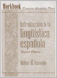 Student Workbook For Introduccion A La Linguistica Espanola