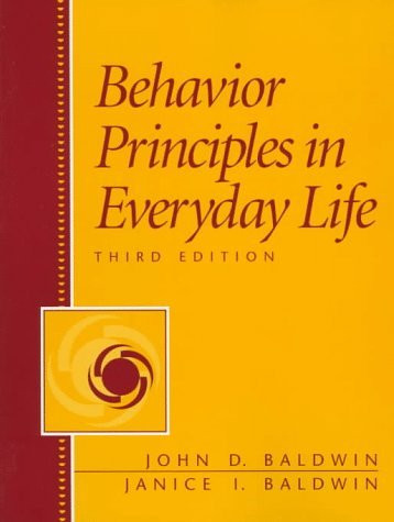 Behavior Principles In Everyday Life