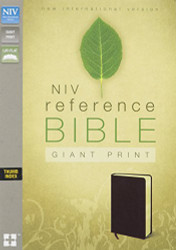 NIV Reference Bible Giant Print Bonded Leather Burgundy Indexed by Zondervan