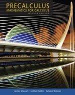 Precalculus Mathematics For Calculus