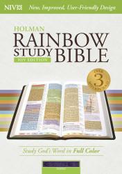 NIV Rainbow Study Bible Purple LeatherTouch Indexed