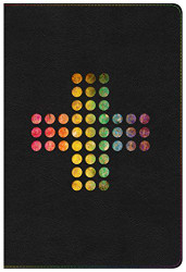 NIV Rainbow Study Bible Pierced Cross LeatherTouch