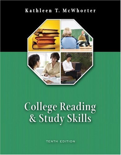 College Reading And Study Skills
