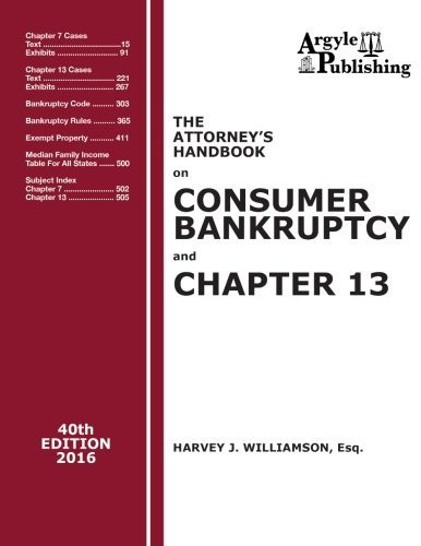 Attorney's Handbook on Consumer Bankruptcy and Chapter 13 40th Edition