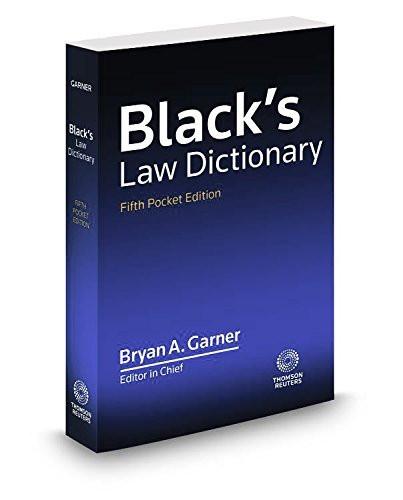 Black's Law Dictionary Pocket Edition