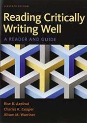 Reading Critically Writing Well