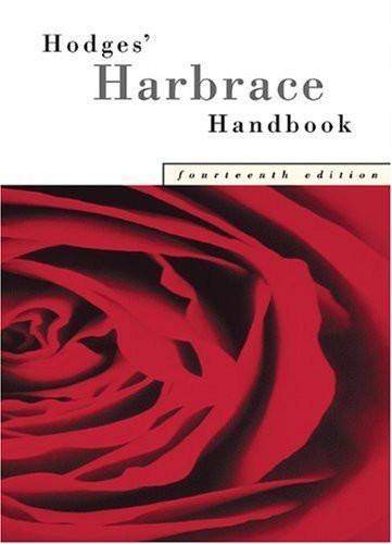 Hodges Harbrace Handbook By Glenn Cheryl Gray Loretta Cengage 2012