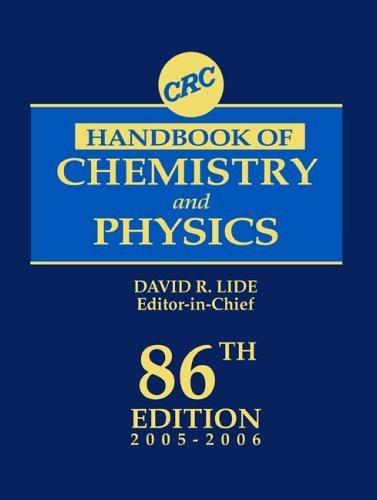 Crc Handbook Of Chemistry And Physics