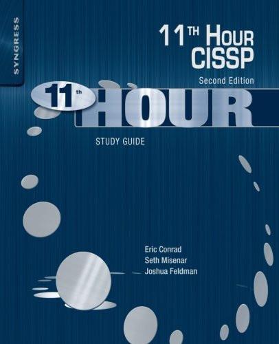 Eleventh Hour Cissp Study Guide