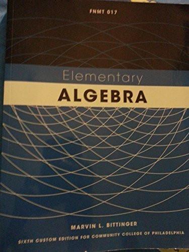 Math 017 Elementary Algebra Student Access Kit