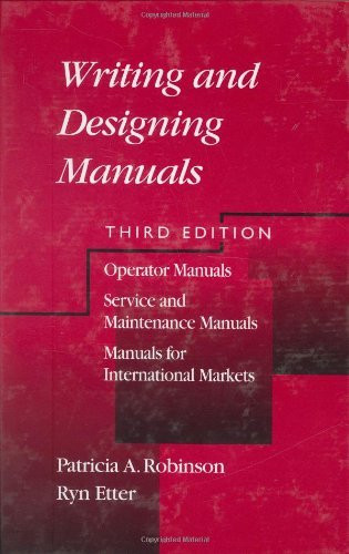 Writing And Designing Manuals