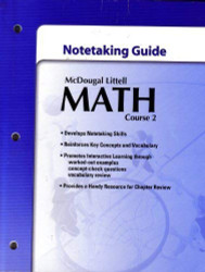 McDougal Littell Math Course 2: Student's Note taking Guide